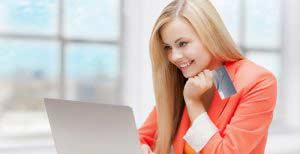 online and internet shopping concept - happy teenage girl with l