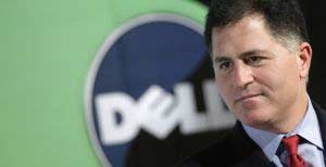 Michael Dell, chairman of Dell Inc., speaks at a news confer